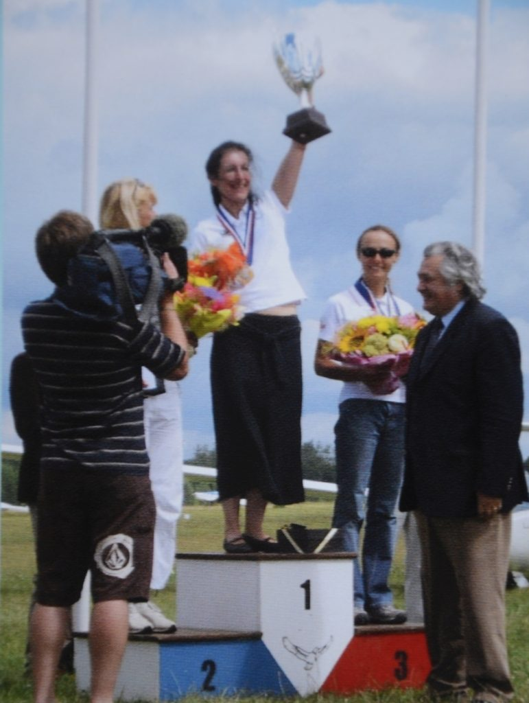 Sarah on the top step of the podium at the Women's Worlds, Lithuania